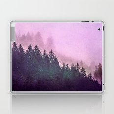 Fog Forest - Pink and Green Misty Mountain Pass Laptop & iPad Skin