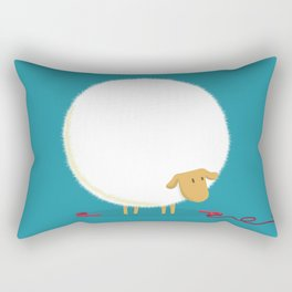 Fluffy Sheep Rectangular Pillow