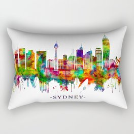 Sydney Australia Skyline Rectangular Pillow