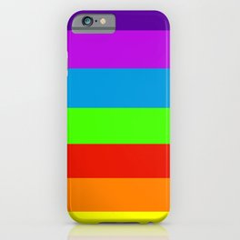 Fluorescent Rainbow |7 Colours iPhone Case