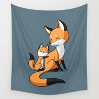 hug Wall Tapestries featuring Surprise Hug by Freeminds