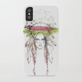 Indian woman (summer version) iPhone Case