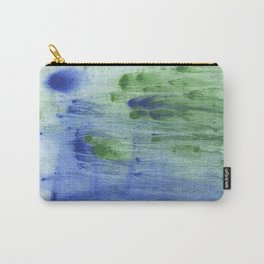 Blue-green abstract watercolor painting Carry-All Pouch