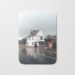 Rain storm in England Bath Mat