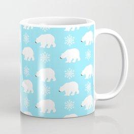 Polar bears with snowflakes Coffee Mug