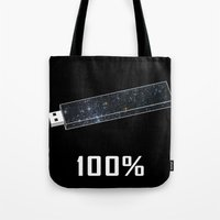 the 100 Tote Bags featuring 100% by Thecansone