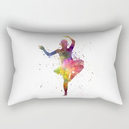 Little girl ballerina ballet dancer dancing Rectangular Pillow