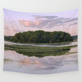 Annisquam river reflections Wall Tapestry