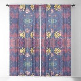 SWIM IN SALIVA #1 colorfull Sheer Curtain