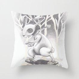 Renegade Rabbit Throw Pillow