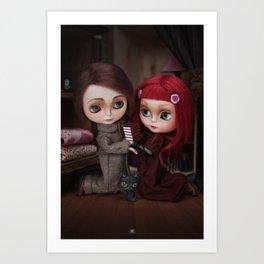 Erregiro Blythe Custom Doll Lisbeth & Edward based on Benjamin Lacombe tale Art Print