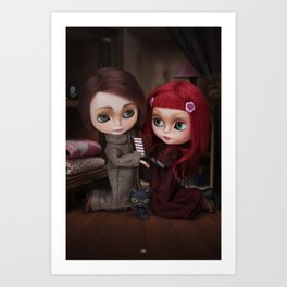 Erregiro Blythe Custom Doll Lisbeth & Edward based on Benjamin Lacombe tale Art Print