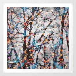 Abstract tree art  Art Print