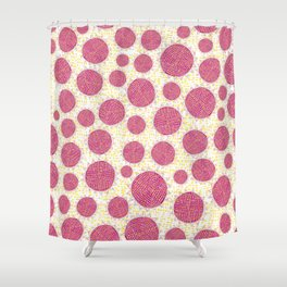 Big Circles Modern Scandinavian Bold Colorful Pattern Shower Curtain