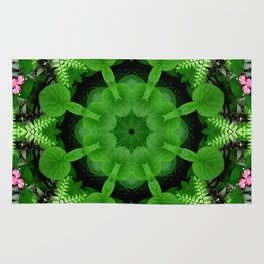 Fern and friends kaleidoscope, mandala - Maidenhair, Adiantum 900 kal 16 Rug