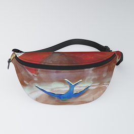 Hearts and Bluebird of Happiness for Your Valentine Fanny Pack