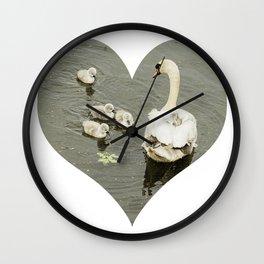 Mother Swan I Wall Clock