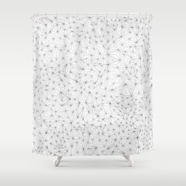 a lot of triangles Shower Curtain