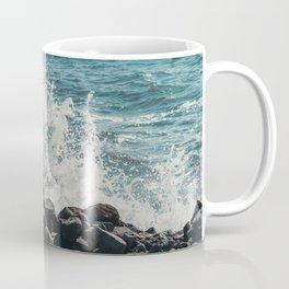Splashing Waves on Rocks 02 Coffee Mug