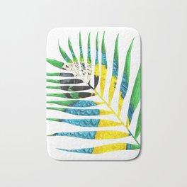 Parrot Palm Leaf Bath Mat