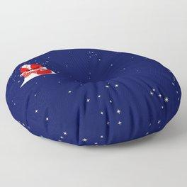 Christmas Whippet Floor Pillow