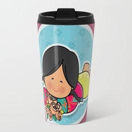 With flowers Travel Mug