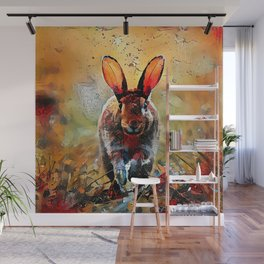 Impressions of an Autumn Rabbit Wall Mural