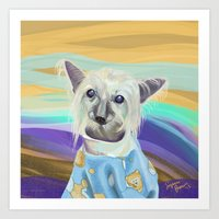 Chinese Crested in her PJ's Art Print