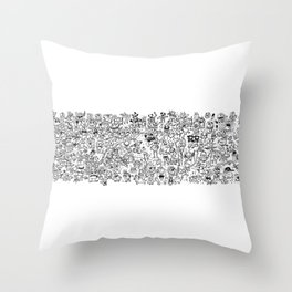 Monster Collage Throw Pillow
