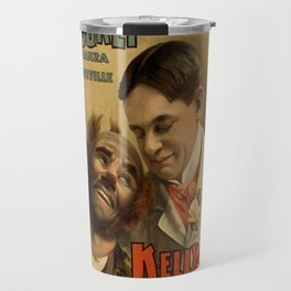 Vintage poster - Hurly Burly Extravaganza and Refined Vaudeville Travel Mug