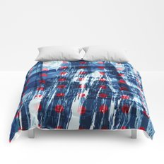 dots on blue ice Comforters