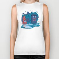 hallion Biker Tanks featuring Big Bad Wolf by Karen Hallion Illustrations
