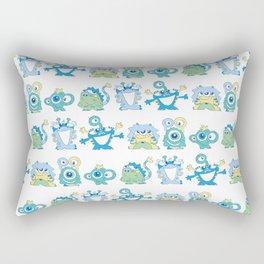 Lil Monsters Pattern Rectangular Pillow
