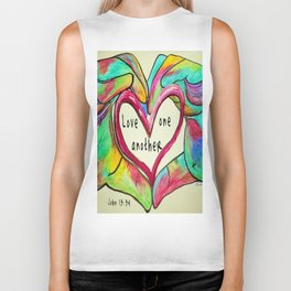 Love One Another John 13:34 Biker Tank