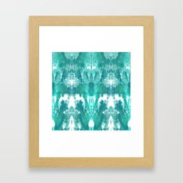 Aqua Blue Lagoon Framed Art Print
