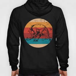 Vintage Anteater Lover Retro Style Silhouette Gift Hoody