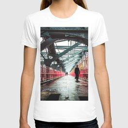 New York City Williamsburg Bridge in the Rain T-shirt