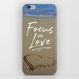 Focus on Love 3 iPhone Skin