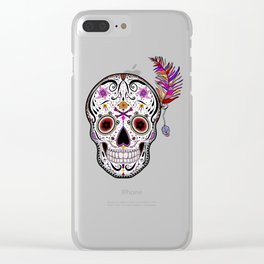 Sweet as Sugar Skull Clear iPhone Case