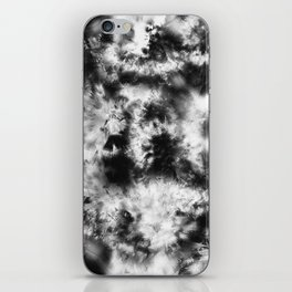 Black and White Tie Dye & Batik iPhone Skin