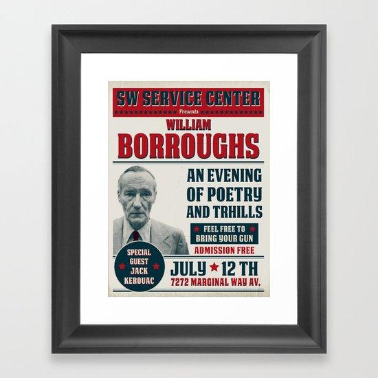 Borroughs Event Framed Art Print