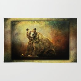 Grizzly Bear in Morning Sun Rug