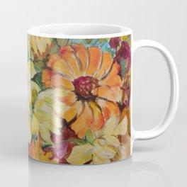 Autumn Garden Flowers Autumn color Floral Painting Ceylon Yellow Fall decor Coffee Mug