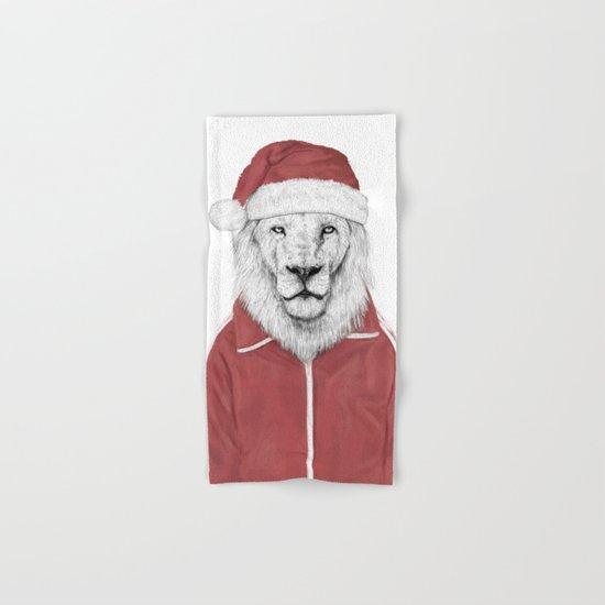 Santa lion Hand & Bath Towel