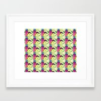trippy Framed Art Prints featuring Trippy by Idle Amusement