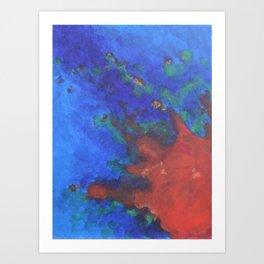 Splattered Peacock (3) Art Print