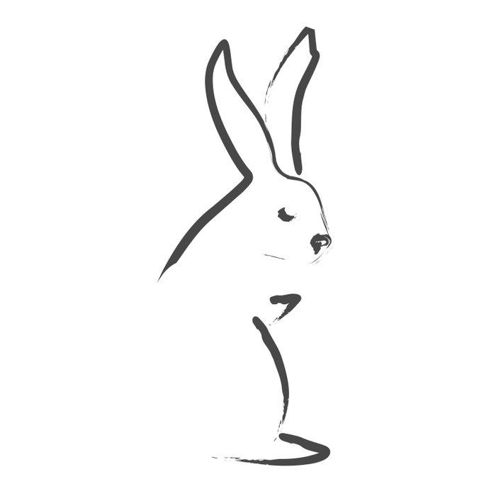 Zen Snow Bunny Duvet Cover