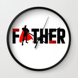 happy father day t shirt Wall Clock