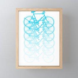 Blue bicycle Framed Mini Art Print