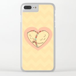 Let's taco-bout you and me Clear iPhone Case